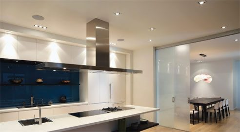 Domestic Electrician Kitchen Range hood Down Lights