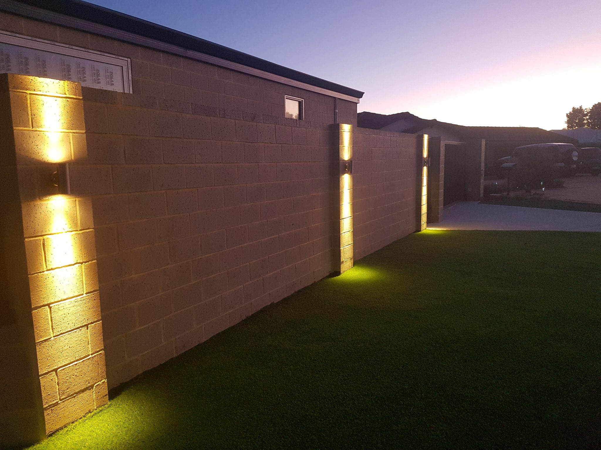 Workshop, Up/Down Lights, LED Front Landscape Lighting