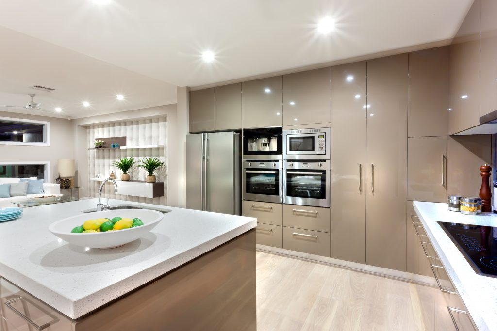 Modern LED Downlights in Kitchen Electrical Contractors Perth